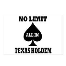 Poker - Texas Holdem Postcards (Package of 8)