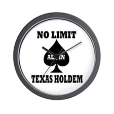Poker - Texas Holdem Wall Clock