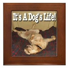 It's A Dog's Life Framed Tile