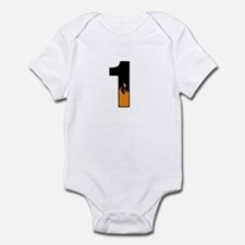 1 with Flames Infant Bodysuit