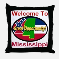 Welcome to Mississippi Great Opportunity Throw Pil