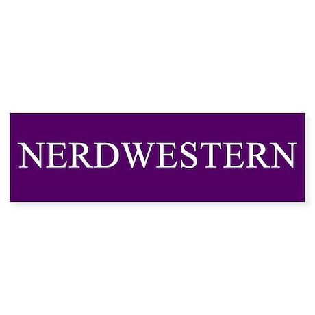 Nerdwestern University Bumper Sticker