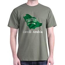 Map Of Saudi Arabia T-Shirt