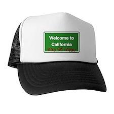 WelcomeToCaliforniaNowGoHome Trucker Hat