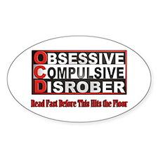 Disrober Oval Sticker (10 pk)