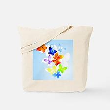 RAINBOW of BUTTERFLIES Tote Bag