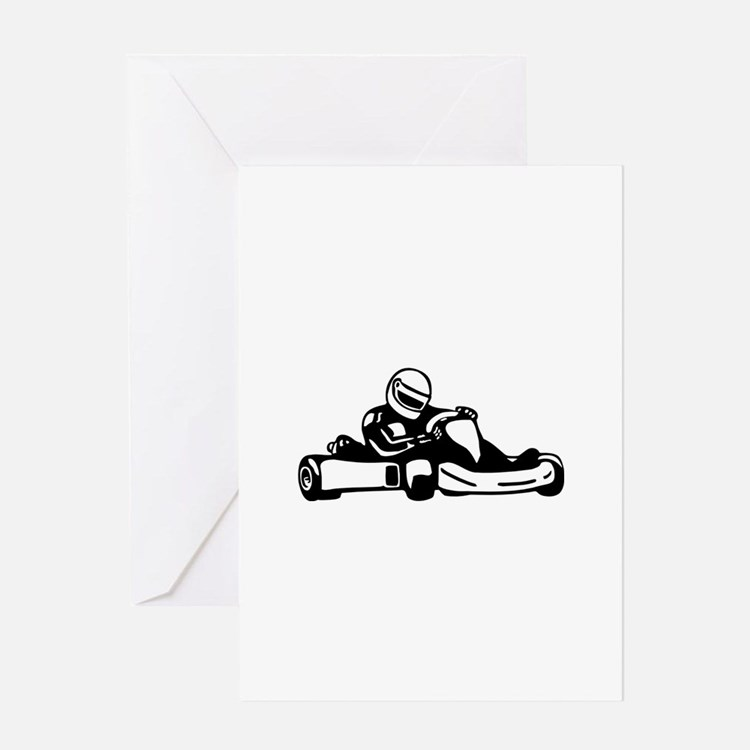Go Kart Racing Greeting Card