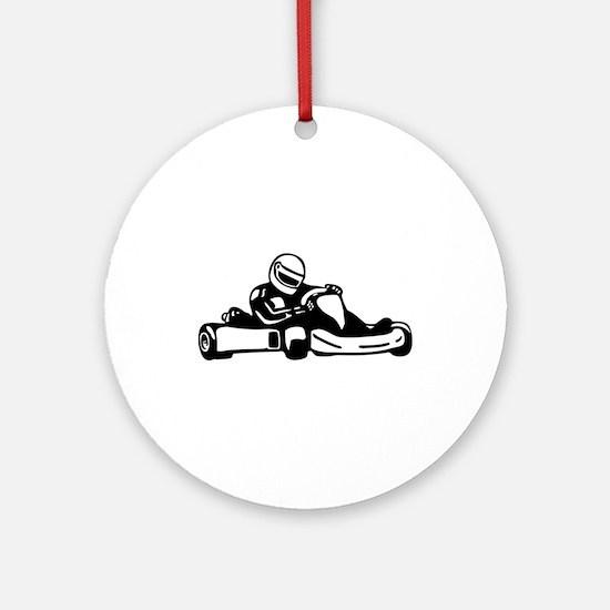 Go Kart Racing Ornament (Round)