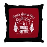 New Moon St. Marcus Day Festival Throw Pillow