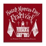 New Moon St. Marcus Day Festival Tile Coaster