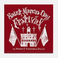 New Moon St. Marcus Day Festival Tile Coaster