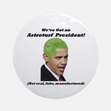 """Astroturf President"" Ornament (Round)"