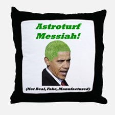 """Astroturf Messiah"" Throw Pillow"