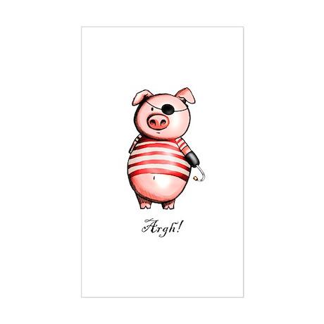 Pirate Piggy Rectangle Sticker