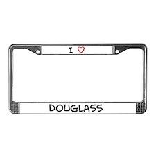 I love Douglass License Plate Frame