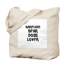 Cute Karelian bear dog Tote Bag