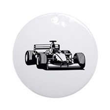 Race car Ornament (Round)