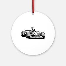 Race car Ornament (Round)