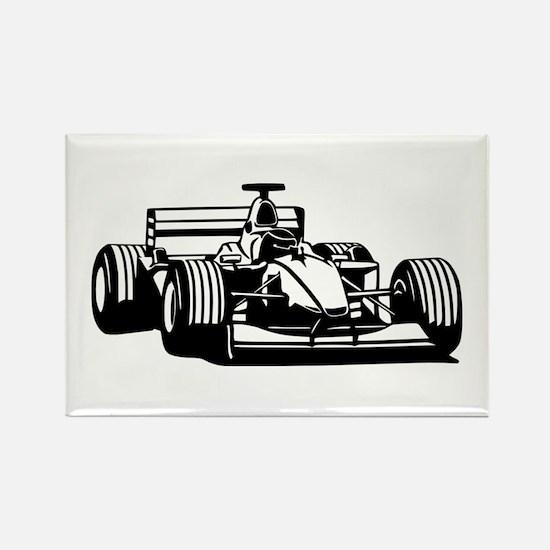 Race car Rectangle Magnet