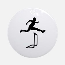 Athletics - Hurdles Ornament (Round)