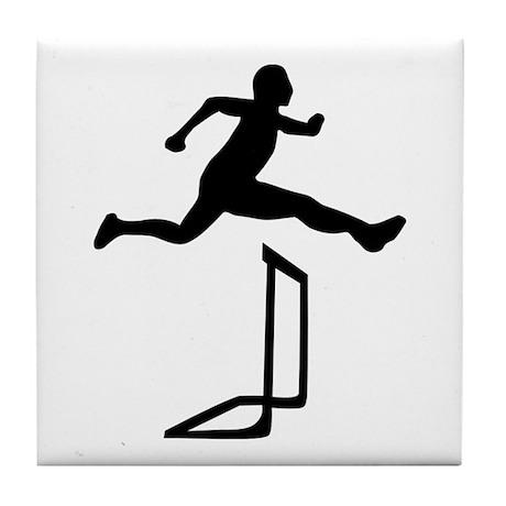 Athletics - Hurdles Tile Coaster