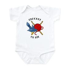Crochet or Die Tattoo Infant Bodysuit