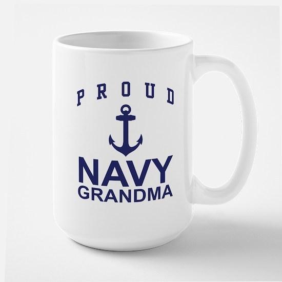 Proud Navy Grandma Large Mug