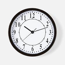 Traditional Dots Wall Clock