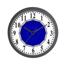 Blue Guiding Star 2 Wall Clock