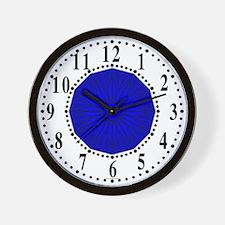 Blue Guiding Star 2 Wall Clock