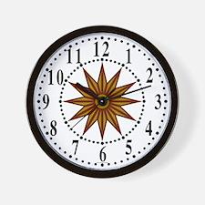 Brown Guiding Star 1 Wall Clock