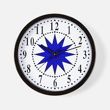 Blue Guiding Star 1 Wall Clock