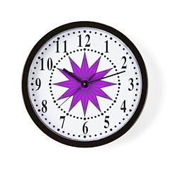 Lavender Guiding Star 1 Wall Clock