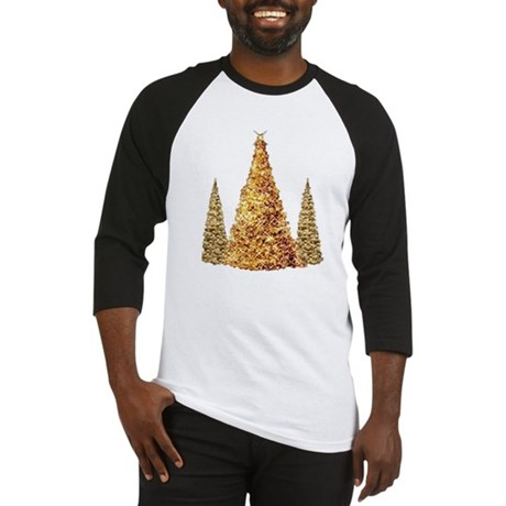 GOLD CHRISTMAS TREES Baseball Jersey