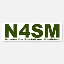 Nurses for Socialized Medicine N4SM Car Car Sticker