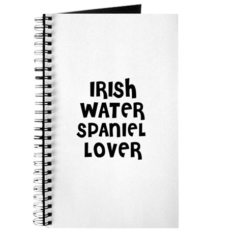 IRISH WATER SPANIEL LOVER Journal