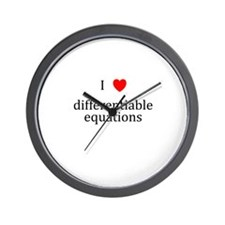I Heart differentiable equations Wall Clock