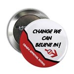 "Obama Approval Rating 2.25"" Button"