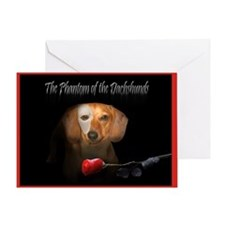 Phantom Doxie Greeting Card