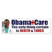 Obama's Death & Taxes Bumper Car Sticker