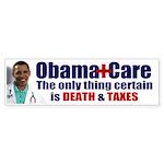 Obama's Death & Taxes Bumper Sticker