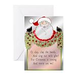 Santa's Coming Greeting Cards (Pk of 10)