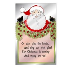 Santa's Coming Postcards (Package of 8)