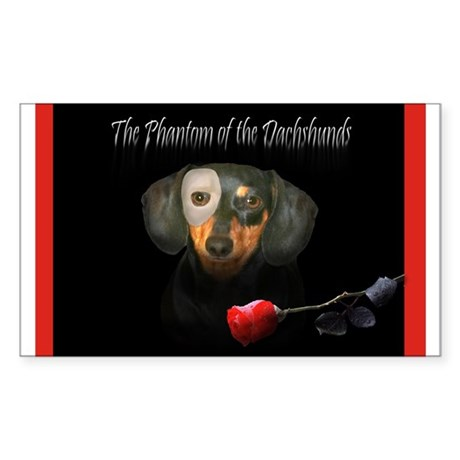 Phantom Doxie Rectangle Sticker