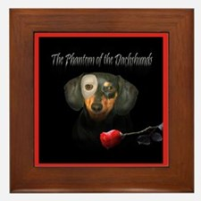 Phantom Doxie Framed Tile