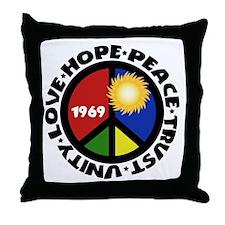 Hope Peace Love Trust Unity Throw Pillow