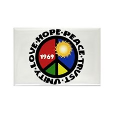Hope Peace Love Trust Unity Rectangle Magnet