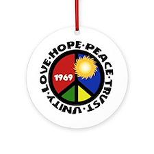Hope Peace Love Trust Unity Ornament (Round)
