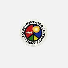 Hope Peace Love Trust Unity Mini Button