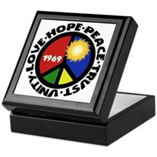 Hope Peace Love Trust Unity Keepsake Box
